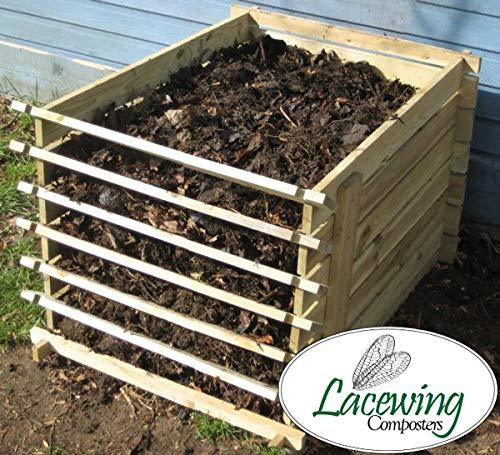 Lacewing 449 Liter Komposter aus Holz mit Stecksystem, 65cm x 75cm x 92cm