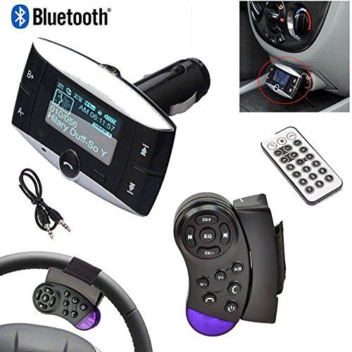 """1.5 \""""LCD Car Kit Bluetooth MP3-Player BT FM Transmitter FM Modulator SD MMC USB Fernbedienung + Lenkrad-Steuerpult"""