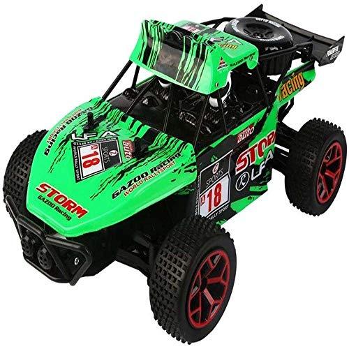 Lecez Control Remoto Vehículo Todoterreno, vehículo de Escalada de Alta Velocidad 2.4G Control Remoto Coche eléctrico USB Toy Children's Toy, Verde, Blanco, 18.5x29.5x11.5cm (Color : Verde)