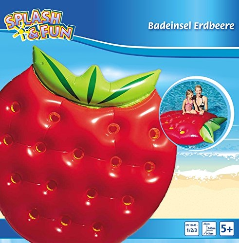 Splash & Fun Badeinsel Erdbeere, 143x140x25cm