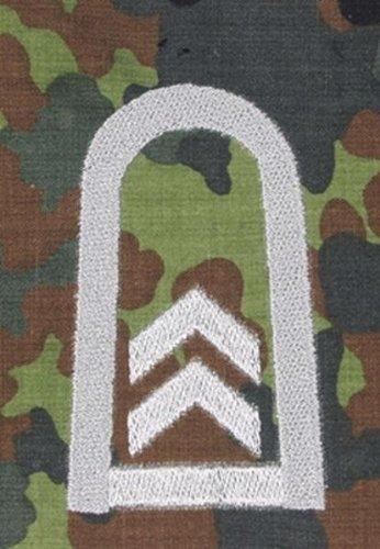 Unbekannt 1 Paar Bundeswehr Rangabzeichen Flecktarn/Silber Rangschlaufe Rangschlaufen Abzeichen Schlaufe Verschiedene Dienstgrade (Oberfeldwebel)