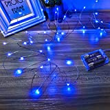 Ariceleo Led Fairy Lights Battery Operated, 1 Pack Mini Battery Powered Copper Wire Starry Fairy Lights for Bedroom, Christmas, Parties, Wedding, Centerpiece, Decoration (5m/16ft Blue)