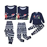Christmas Matching Pajamas for Family PJs Set Dad Mom Kids Baby Xmas Soft Cotton Clothes Sleepwear (Baby/ 18-24 Months) Dark Blue