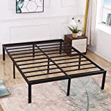TATAGO 3000lbs Weight Capacity 16 inch Queen Size Heavy Duty Metal Platform Bed Frame Mattress Foundation, Extra-Strong Support &Non-Slip, No Noise & No Box Spring Needed