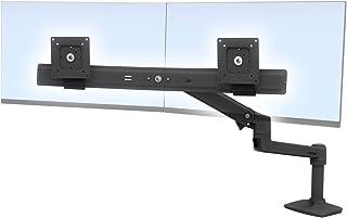LX biurko Dual Direct Arm, matowy czarny