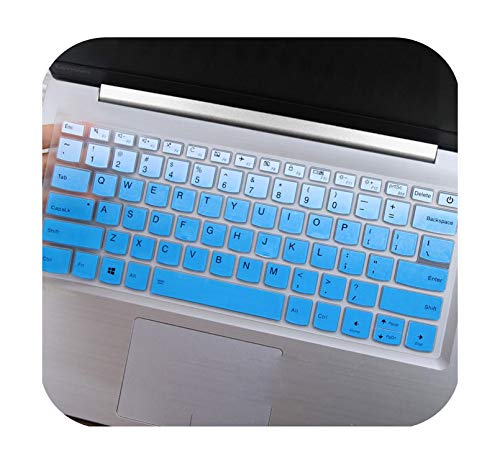 Hopereo 2017 New Silicone Keyboard Cover Skin Protector for Lenovo for Yoga 720 14'' 320S 120S 14'' Flex 5 14'' for Xiaoxin 7000-14-Gradualblue-
