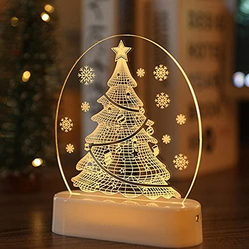 Cadena de Luces,Luces Navideñas de Hadas,árbol de Navidad de Papá Noel,Luz LED,Decoración Navideña,Decoración Navideña Para el Hogar,Regalo de Navidad,Año Nuevo 2021,Adornos Colgantes y Colgantes