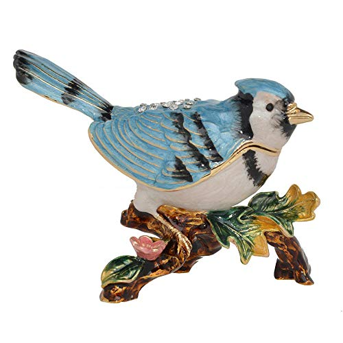 LOSAYM Statue Ornaments Sculptures Blue Jays Bird Ornament Collectible Figurines