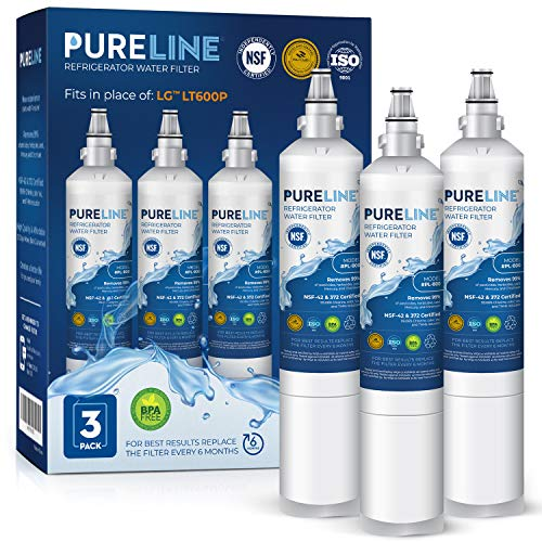 Pureline 9990 & LT600P Water Filter. Compatible with Kenmore 9990, LG LT600P, LG 5231ja2006a, Kenmoreclear 46-9990. Advanced Filtration Technology (3 Pack)