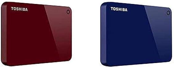 Toshiba Canvio Advance 2TB Portable External Hard Drive USB 3.0, Red (HDTC920XR3AA) with 2TB Portable External Hard Drive ...