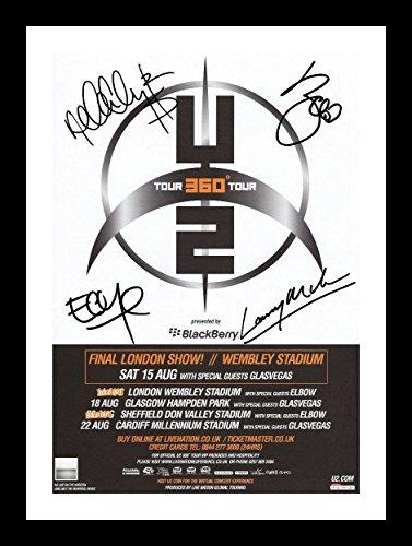 U2 Autogramme Signiert Und Gerahmt Foto