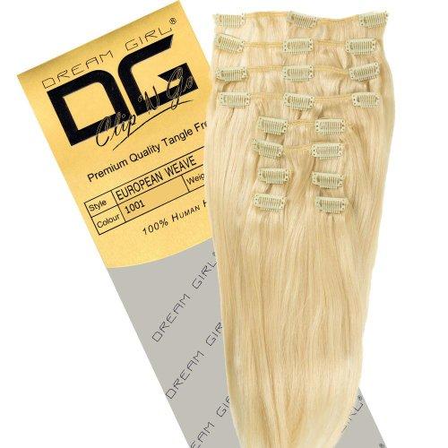 Dream Girl Extensions de cheveux à clipser Couleur 1001 35 cm
