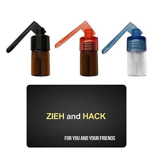 3 x Dosierer mit Löffel & Zieh and Hack Karte Straw Snuff Bat Snorter Nasal Tube Bullet Sniffer Snuffer Portionierer für Schnupftabak Schnupfset - Set wählbar (Set 2)