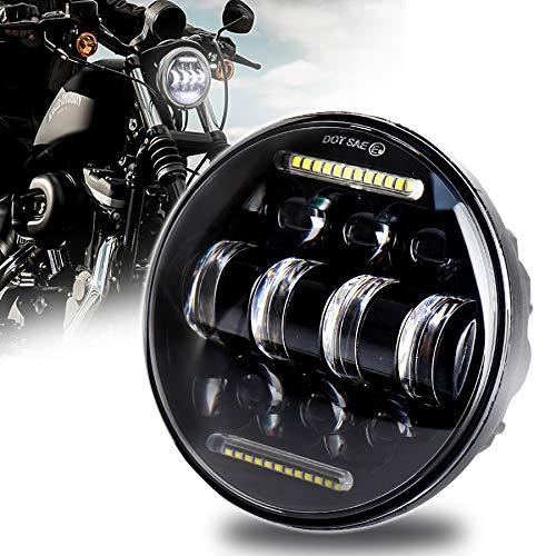 5-3/4 5.75 faro LED bianco DRL guida faro per Harley Davidson Sportster Iron 883 Dyna Indian Scout