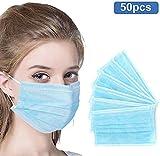 3-lagige Gesichtsabdeckung zum Schutz der persönlichen Gesundheit zum Schutz der Gesundheit (50PCS)