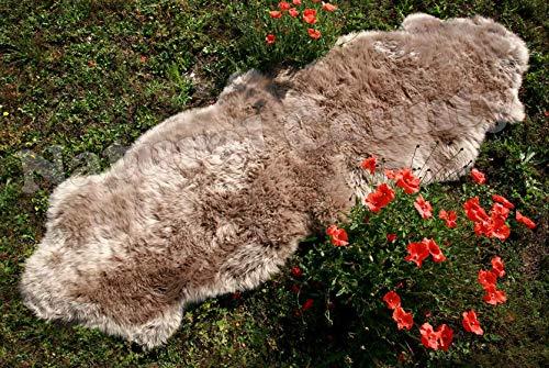 Zaloop Merino Doppel Lammfell Teppich extra groß versch. Farben und Größen echt Läufer (Taupe, ca.190 x 60-70 cm)