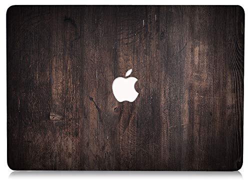 Étui Rigide en Bois RQTX pour Coque Macbook 12 Pouces, Couverture Rigide en Plastique pour Ordinateur Portable pour MacBook 12 Pouces modèle A1534- (Bois de café)