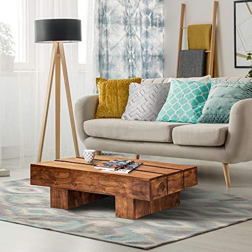 Mesa de centro madera rustica