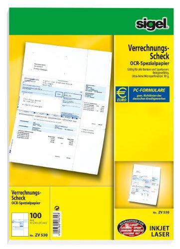 Sigel zv530PC de verrechnungs de cheques A490g sho1100bl Euro Formulario