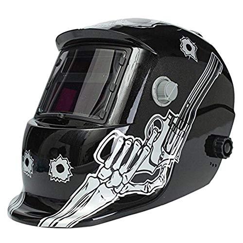 NZQLJT Pantalla soldar automatica, Soldadura máscara Solar ennegrecido automáticamente Casquillo Grande Casco del Soldador Pantalla eléctrica Negro