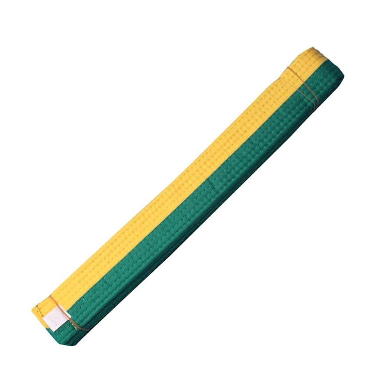 変なクリップ神の260 cm / 102.36インチランク武道テコンドーハプキド空手ベルト - 黄そして緑