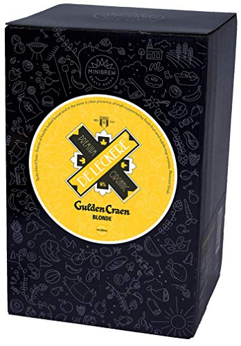 MiniBrew DeLeckere Gulden Craen Blonde Bierbrau-Packung SmartKeg-Craft Fass (6% Vol.)