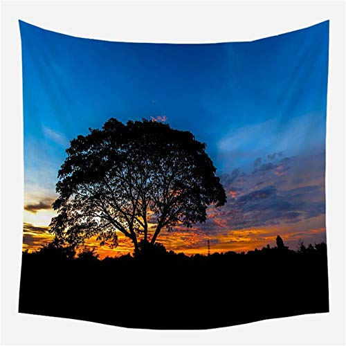 Bosque árboles tapiz colgante de pared decoración psicodélica paño de pared decoración hippie bohemia tela de fondo a3 150x200cm