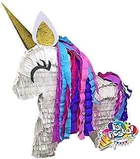 pignatte fatte a mano. Gioco della pignatta per feste di compleanno a tema unicorno pi/ñata, pentolaccia Pignatta Unicorno corpo intero