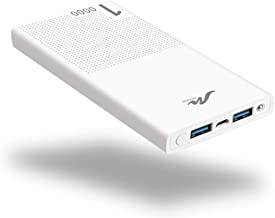 External Portable Battery Charger for Cell Phone, 10000mAh Power Bank (5V 2.1A) Cell Phone Battery Pack Compatible with iPhone 6/6s/7/8/X/XS/XR iPad and Other Smart Devices, White