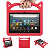 All New Tablet 8 inch Case for Kids, Compatible with 2020 Release 10th Generation 8 inch Display Tablet Ubearkk Light Weight Kick-Stand Handle Friendly Protective Cover Case, Red