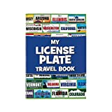 License Plate Travel Sticker Book Game - 12 Pieces