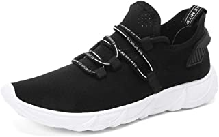 LILICHIC Men's Casual Shoes Comfortable Stretch Fabric Breathable Casual Running Shoes Sneaker