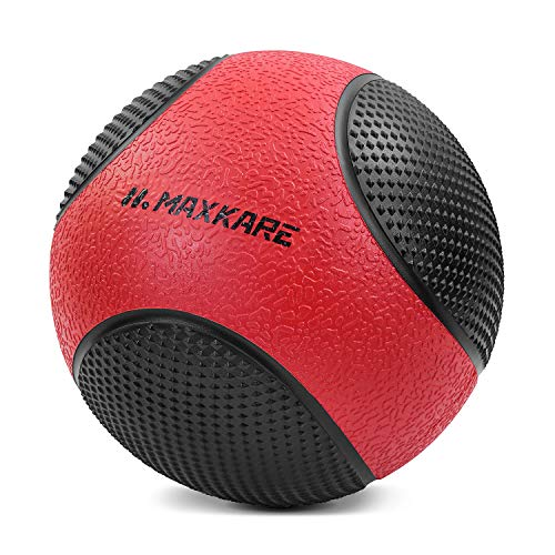 MaxKare Medicine Ball 10 lbs Large Dual Grip for Workout Rehabilitation Exercise Indoor Outdoor Fitness Improves Flexibility Coordination
