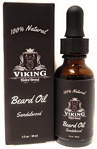 Beard Oil - Organic Styling Growth Conditioner for Men - Sandalwood Scent with 100% Natural Jojoba & Argan Oils