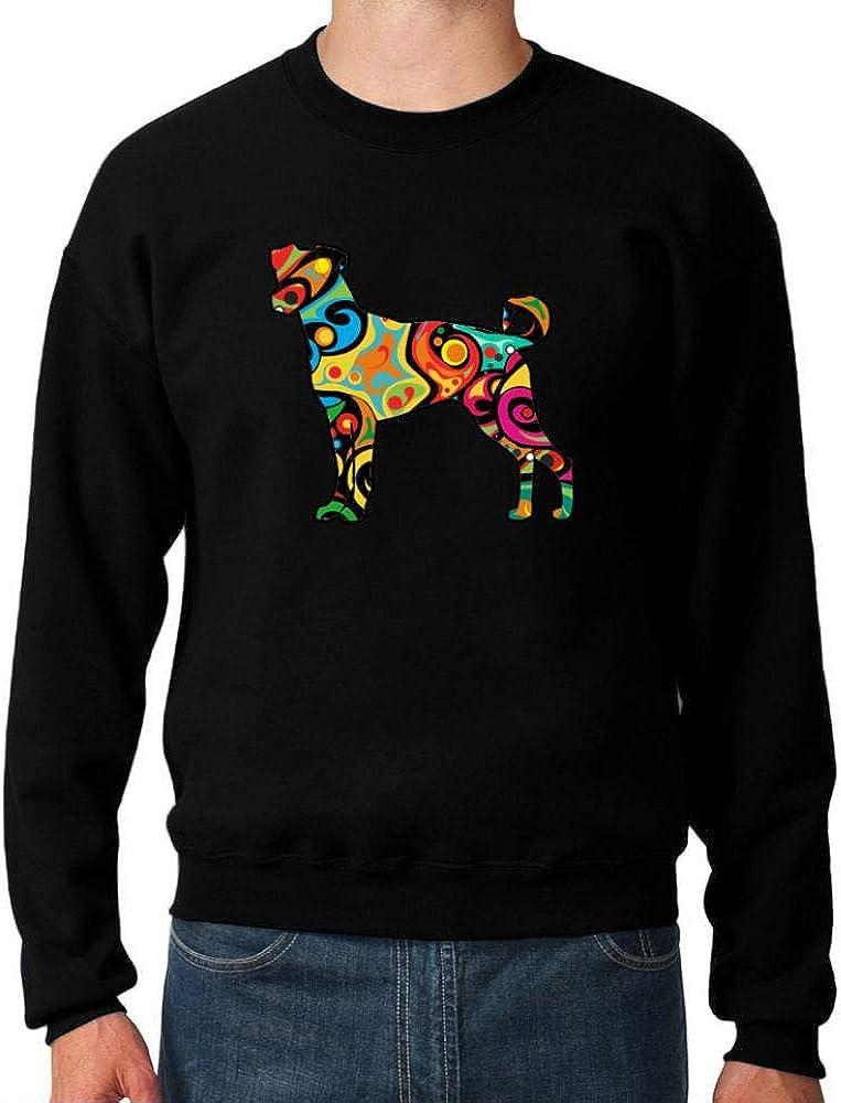 Idakoos Psychedelic Brazilian Max 81% OFF Terrier Sweatshirt Clearance SALE Limited time