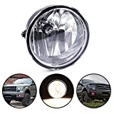 Replacement For Ford F150 F-150 Replacement For Lincoln Mark 2011 2012 2013 2014 Clear Lens Front Bumper Fog Lights Round Driving Lamps Assembly Replacements BL3Z15200A, FO2592229
