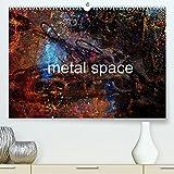 metal space (Premium, hochwertiger DIN A2 Wandkalender 2022, Kunstdruck in Hochglanz): Metal surreal universe. Dark souls in the shipyard of Mario ... imagination. (Monthly calendar, 14 pages )