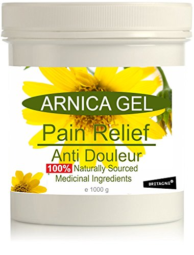 Gel de Árnica Montana 90% 1000 g Acción Rápida Remedio herbal 100% Natural para Aliviar el Dolor Anti-inflamatorio Analgésico