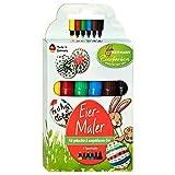 HEITMANN, 6 pennarelli colorati per uova, per bambini, per carta e cartone, colori pasquali