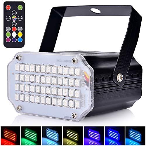 AFDEAL Mini Stroboskop Disco Licht, Sound aktiviert Strobo Party Lichter Bühnenbeleuchtung mit 48 Super Bright LEDs, Flash Speed Control für DJ...