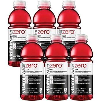 Vitamin Water Zero Acai-Blueberry-Pomegranate - XXX 20oz Bottle  Pack of 6 Total of 120 Oz
