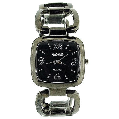 London LC02Black–Armbanduhr Zaza, Armband aus Metall Farbe Schwarz