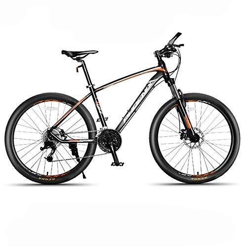 JHKGY Bicicleta De Montaña con Ruedas De 26 Pulgadas,Marco De Aleación De Aluminio con Freno De Disco Doble,Bicicleta MTB De 27 Velocidades,Bicicleta De Montaña con Horquilla De Suspensión,Naranja