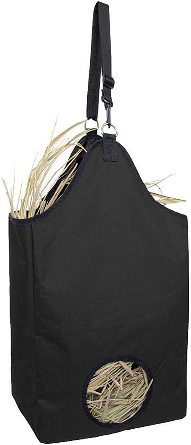 Hay Bag,Horse Slow Feeder Hay,Improves Digestion & Wellbeing of Animals,Black