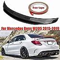 HJHNB Real Carbon Performance Heckspoiler Rear Spoiler, Kofferraumdeckel Lip Highkick Wing für Mercedes Benz W205 C63 AMG PSM 2015-2017