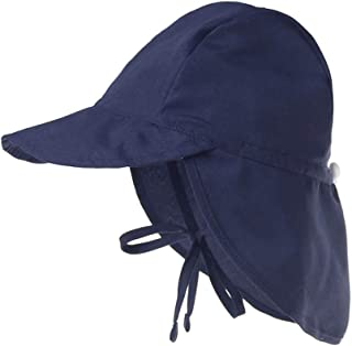 Baby Boys Girls Sun Hat Toddler Adjustable Summer UPF 50+ Sun Protection Beach Flap Hat with Wide Brim