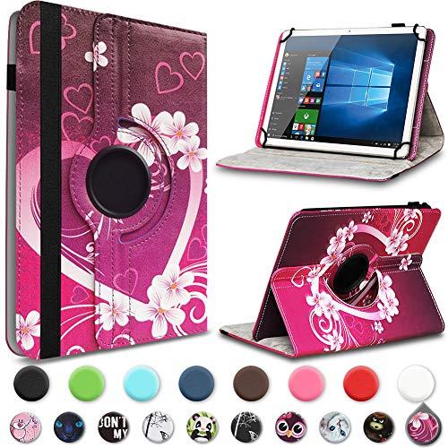 UC-Express Tablet Hülle kompatibel für Telekom Puls Tasche Schutzhülle Hülle Schutz Cover 360° Drehbar, Farben:Motiv 2