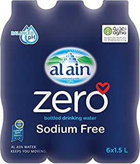 Al Ain Zero Bottled Water - 6 Count/1.5L
