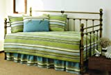 Stone Cottage 5-Piece Fresno Daybed Set, Green Stripe