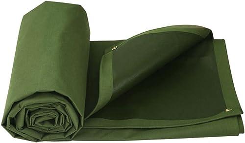 LQq-Baches Tissu imperméable vert de bache-auvent d'armée pour le camping, la pêche, le jardinage-650g m2 pour le camping en plein air (taille   5X4M)